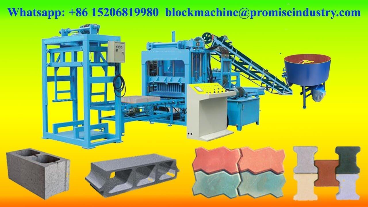 Qt4 18 Automatic Concrete Hollow Blocks Making Machine For