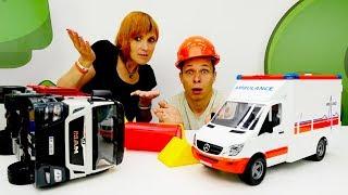 Видео для детей - Машинки на дороге - Кафе на дереве