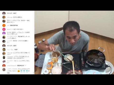 ◆生ライブ、贅沢な一人天ぷらでビール晩酌!(^0^)/