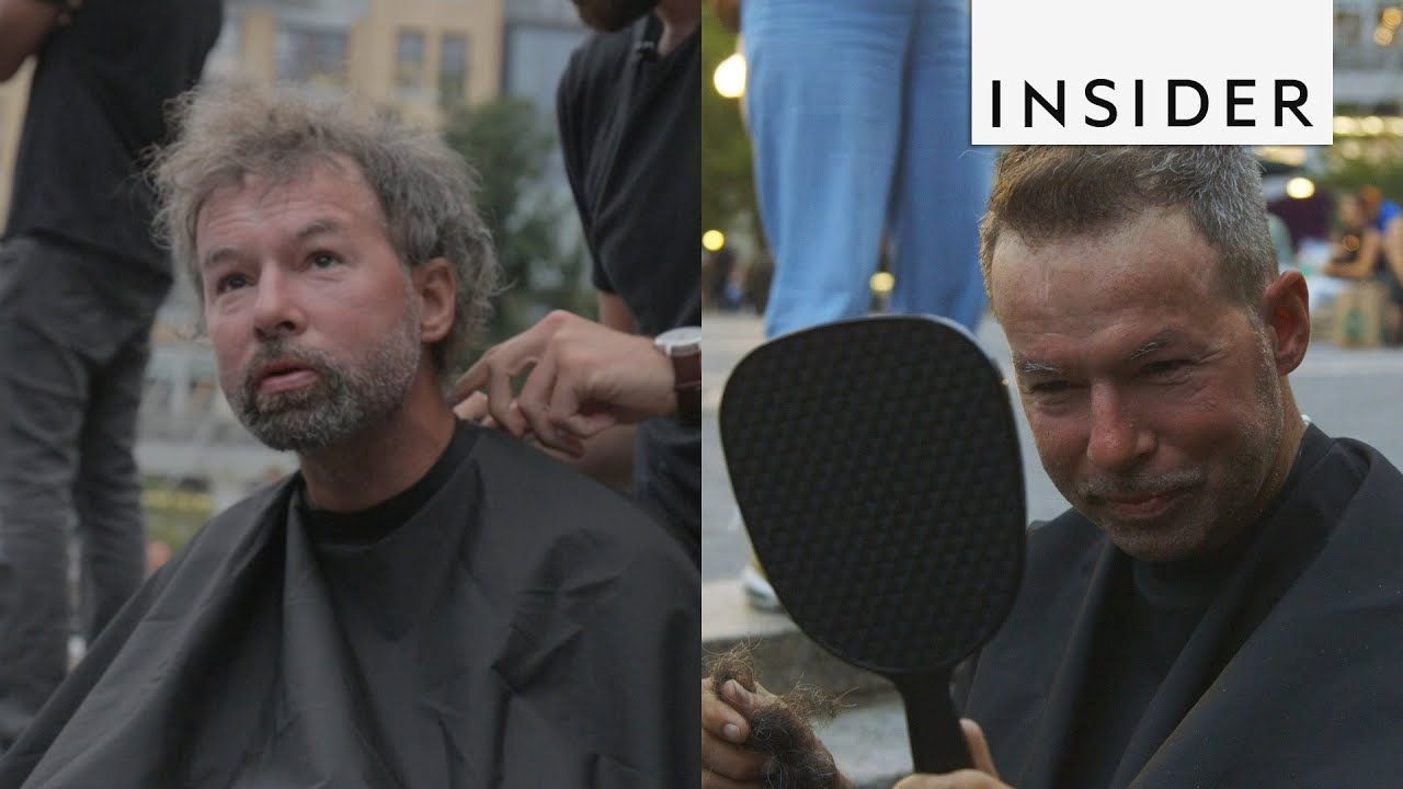 Пред и потоа: Фризер го трансформира изгледот на бездомниците