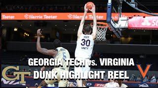 Georgia Tech vs. Virginia: Dunk Highlight Reel