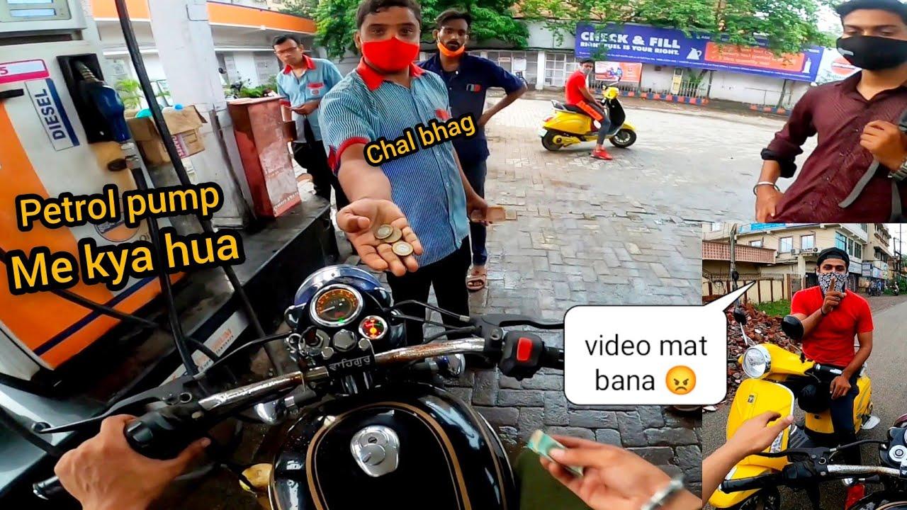 Filling Diesel In Bullet || Reaction 😂 || key 🔑 leke bhag gya 🤦