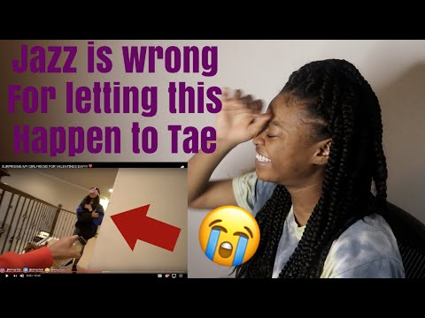 Jazz and Tae | SURPRISING MY GIRLFRIEND FOR VALENTINES DAY | Reaction