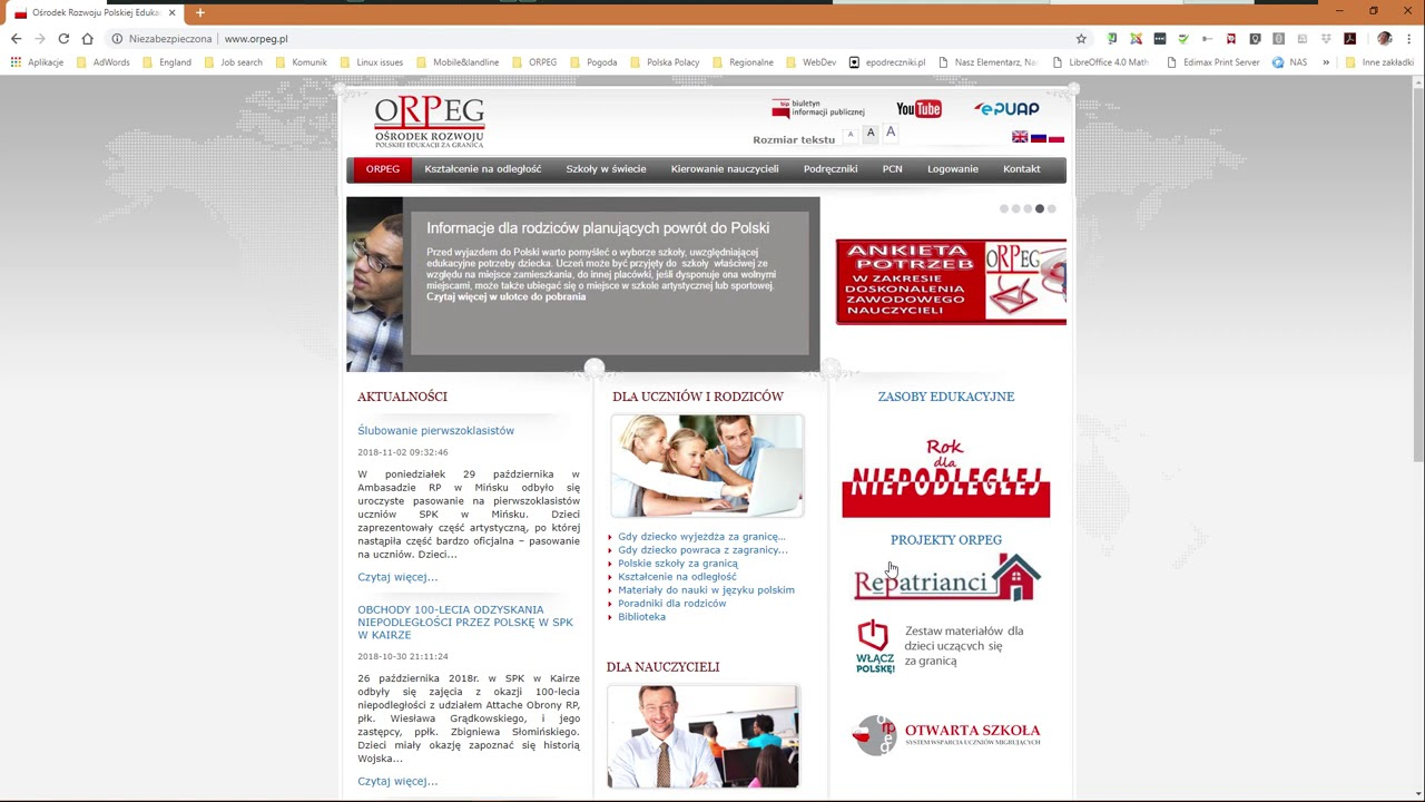 Ośrodek Rozwoju Polskiej Edukacji za Granicą - Praca