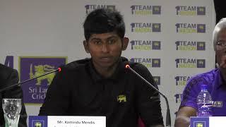 Media Briefing on Sri Lanka's U19 World Cup 2018 Campaign