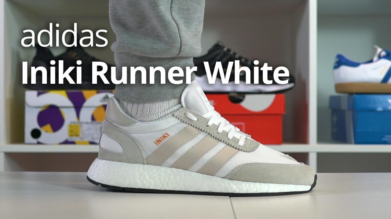 low priced 753b5 596ef EARLY adidas Iniki Runner Boost White Unboxing  ON FOOT