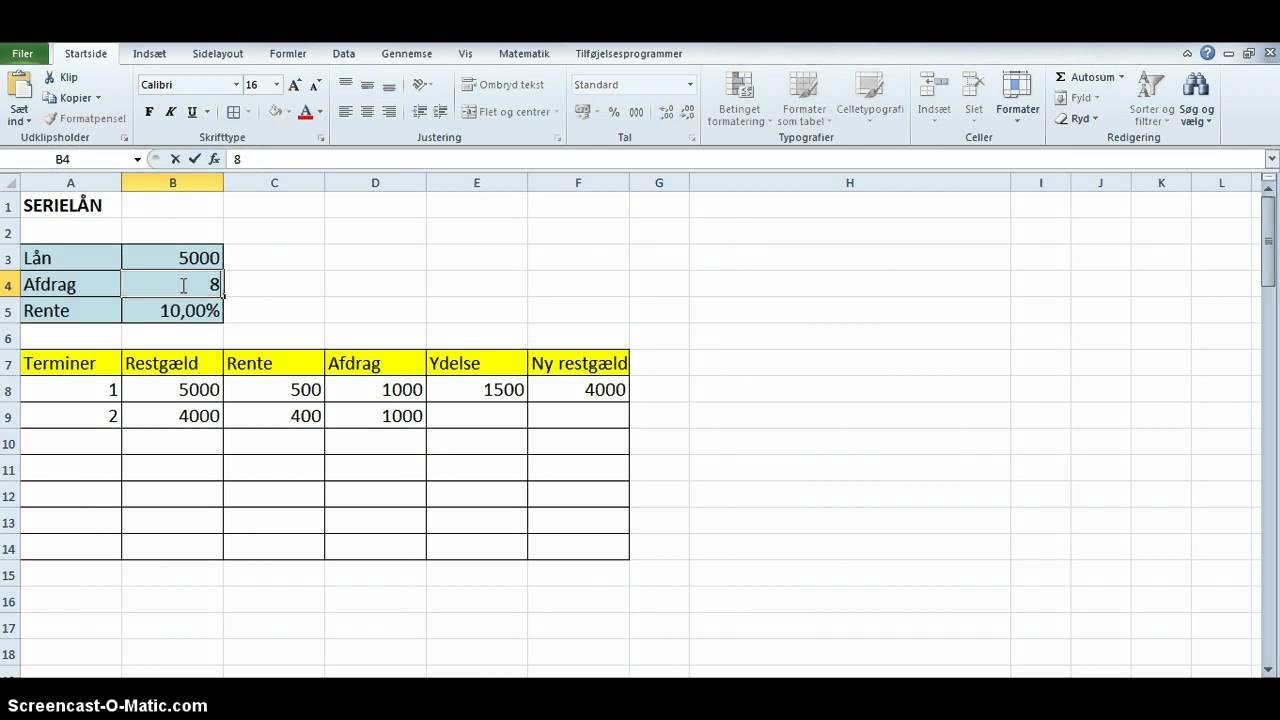 beregning af lån