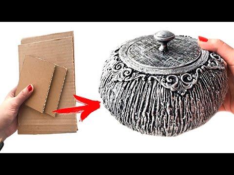 DIY Beautiful cardboard / Papier-mache box