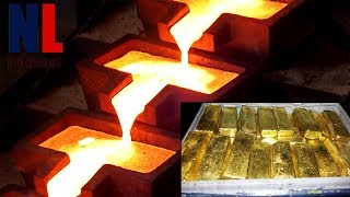 Amazing Melting Pure Gold Technology - Modern Gold Coins and Bars Manufacturing Process ▶ 2