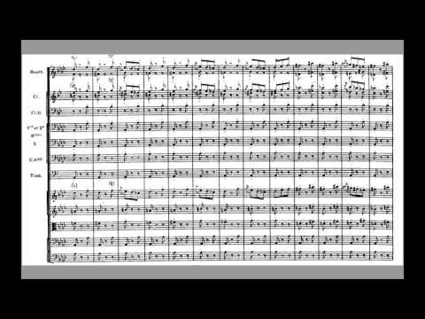 Paul Dukas L'apprenti Sorcier (The Sorcerer's Apprentice) Orchestral Score. (Fast Version)
