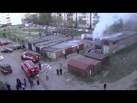Пожар в городе Рубцовске
