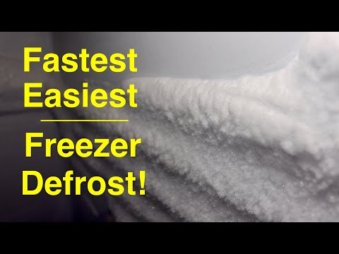 Simple Way to ●  Defrost Your Freezer  ( no effort ! )