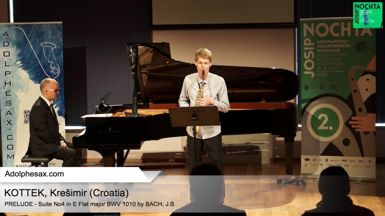 Johann Sebastian Bach   Suite No 4 in E  at major BWV 1010 Pre?lude   – KOTTEK, Kressimir HR