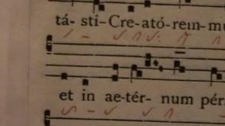 BEATA ES VIRGO MARIA, antifona gregoriana, Studio di Giovanni Vianini, Milano, Italia
