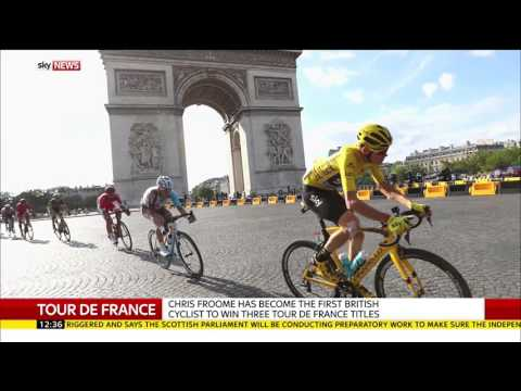Tour De France Champion Chris Froome Speaks To Sky