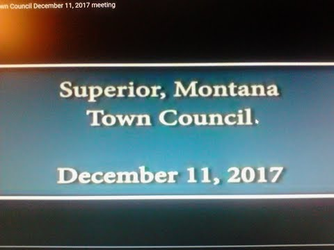 Superior Montana Town Council December 11, 2017 meeting