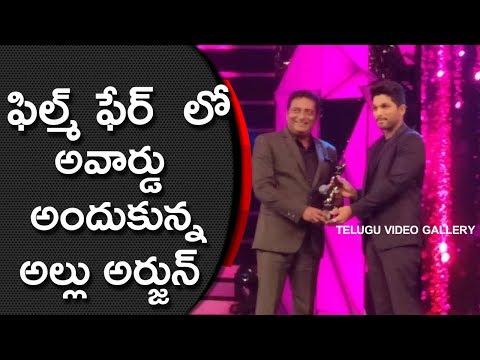 Allu Arjun Getting Filmfare Best Actor Award For Sarrainodu Movie 2016