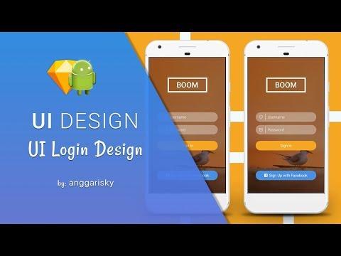 Login UI Sketch App To Android XML Tutorial