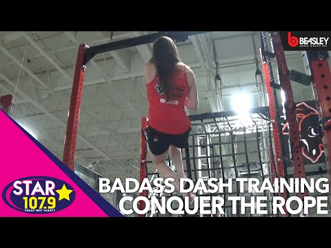 BADASS Dash training with Aimee from Star 107.9: How To Climb a Rope