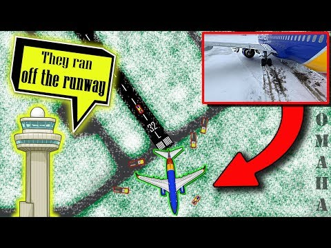 Southwest SLIDES OFF THE RUNWAY at Omaha/Eppley Airfield