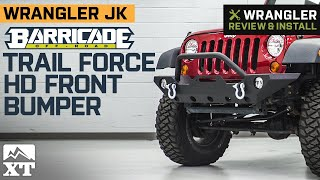 Jeep Wrangler JK Barricade Trail Force HD Front Bumper Review & Install