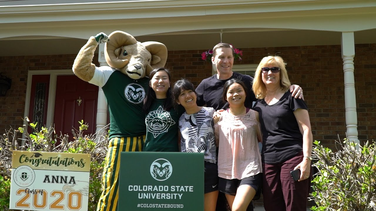#ColoStateBound High School Students are Surprised with CSU Yard Signs