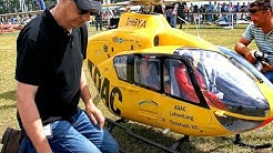 STUNNING !!! GIGANTIC !!! MODEL HELICOPTER  XXXL RC SCALE TURBINE EC-135 ADAC  FLIGHT DEMONSTRATION