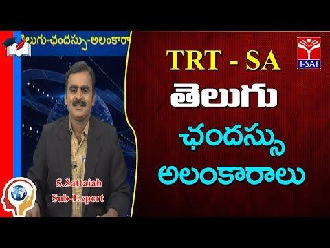 TRT -  SA || Telugu -  ఛందస్సు - అలంకారాలు  || S.Sattaiah
