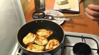 Адыгейский жареный сыр на сковороде - быстрый завтрак или закуска