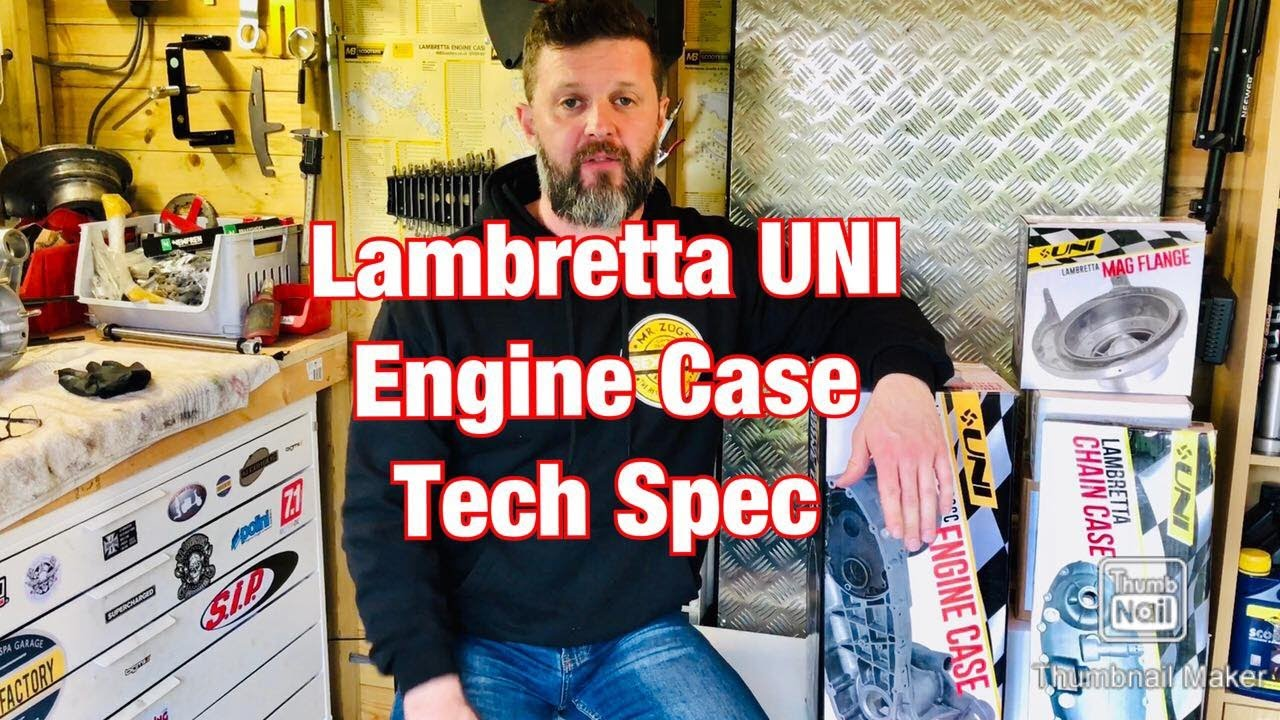 Lambretta UNI Engine Casing - Tech Spec - Inc Chain Case Cover & Mag Housing - Unboxing Review