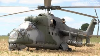 Repeat youtube video Huge Jet Turbine Mil 24 Hind full flight