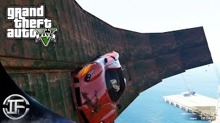 GTA V Online - WALLRIDE DE CULO!! LA RAMPA TROLL! - DRAGON FIRE VS STINGER #3 - Funny Moments GTA 5