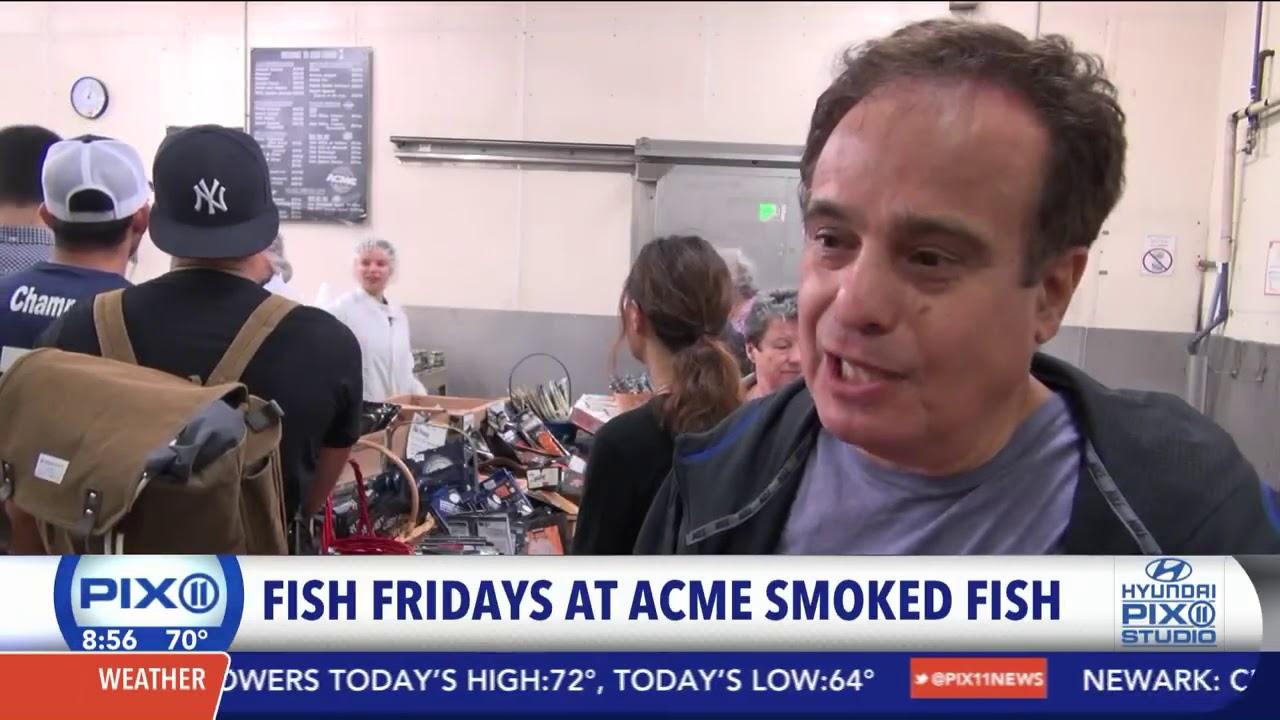 Pix11newsacme fish friday 39 s at acme smoked fish youtube for Acme fish friday