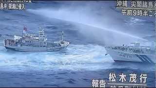台湾漁船40隻とともに台湾の巡視船が数隻領海侵犯をして操業しています。