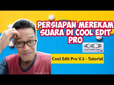 Persiapan Merekam Suara di Cool Edit Pro
