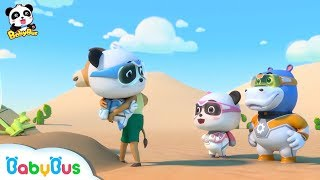 Baby Panda is Saved from Sand Storm | Super Panda Rescue Team 5 | BabyBus Cartoon