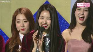 Top 10 Awards - [Eng Sub] 170119 I.O.I SMA - Red Carpet and Rookie of the year