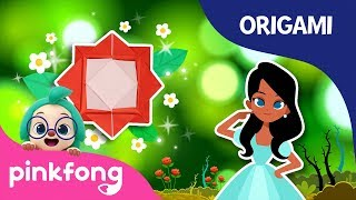 Sleeping Beauty's Rose | Pinkfong Origami | Origami and Songs | Pinkfong Crafts for Children
