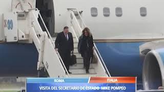 Mike Pompeo llegó a Italia