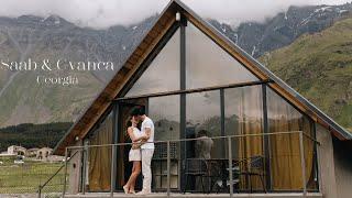 Свадьба в Грузии Свадебная съёмка в горах Казбеги Степанцминда