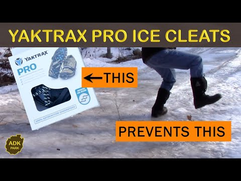 WALKING ON ICE YAKTRAX PRO ICE CLEATS