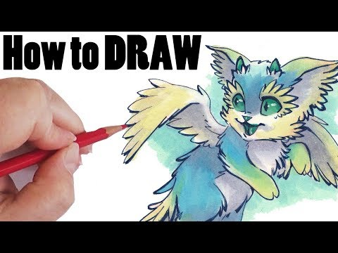 How to Draw a Dragon ~Cat  ART CLASS