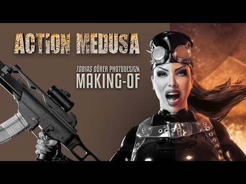 Photoshop Tutorial - (Fetish) Action Medusa  - Making Of by TOBIAS DÖRER PHOTODESIGN thumbnail