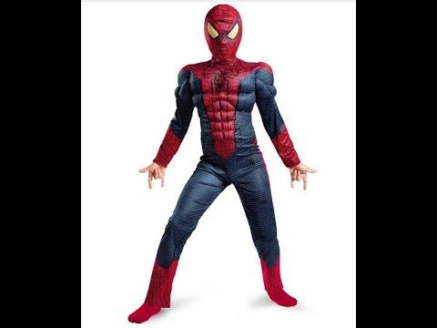 Детский карнавальный костюм Человек Паук с мускулатурой