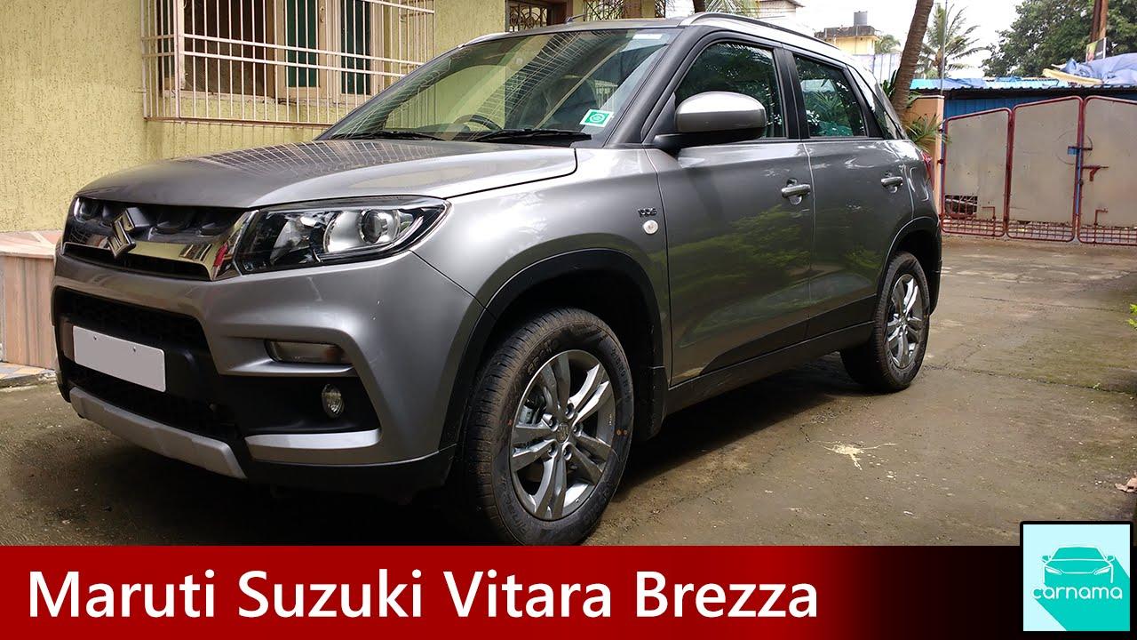 Maruti Suzuki Vitara Brezza Zdi Detailed Walkaround Interior And
