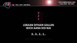 Lokan diyan gallan wich - Video Karaoke - Tahir Neyyer - by Baji Karaoke