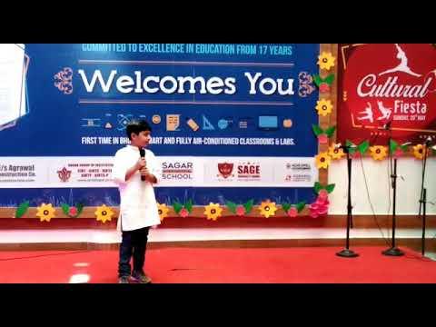 Kesi Teri Khudgarji... Samyak Jain performing at Sagar International School, Bhopal in SIS MOJO Camp