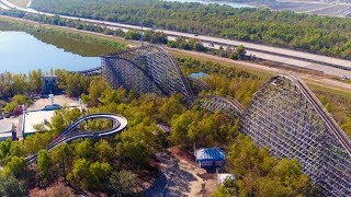 Abandoned Six Flags New Orleans with Drone