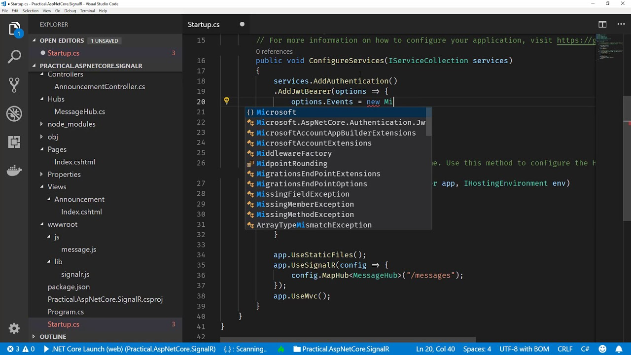 Practical ASP NET Core SignalR: Authorization - CodeOpinion