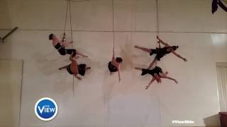 Upswing Arial Dance Co. Rocks The #ViewSlide | The View